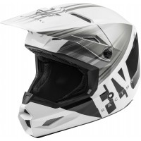 2020 Fly Racing Kinetic K220 Motocross Helmet WHITE GREY BLACK SMALL or LARGE ONLY