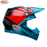 Bell Moto 9 Carbon Flex Motocross Helmet Hound Cyan Red XS or SMALL ONLY