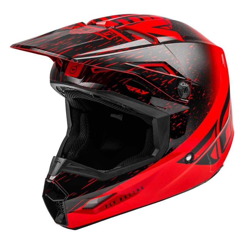 2020 Fly Racing Kinetic K120 Motocross Helmet RED BLACK