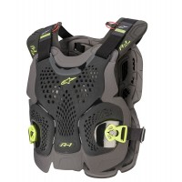 NEW Alpinestars A1 Plus Chest Roost Protector Armour For Neck Braces ANTHRACITE XL/XXL ONLY