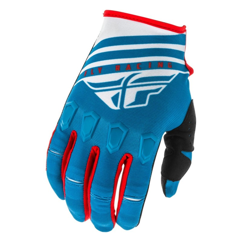2020 Fly Racing Kinetic K220 Youth Kids Motocross Gloves Blue White Red
