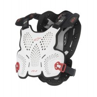 Alpinestars A1 Chest Roost Protector Armour For Neck Braces WHITE