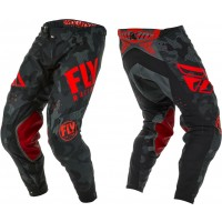 2020 Fly Racing Evolution Motocross Pants Red Black Camo
