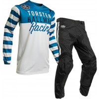 Thor MX Hallman Ringer Motocross Gear White Blue Black