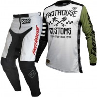 Fasthouse GRINDHOUSE Motocross Gear WHITE HAWK OLIVE