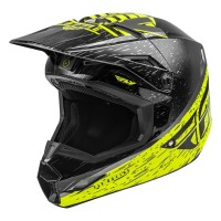 2020 Fly Racing Kinetic K120 Motocross Helmet HI VIZ GREY BLACK