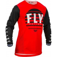 2020 Fly Racing Kinetic K220 Youth Kids Motocross Jersey Red Black White