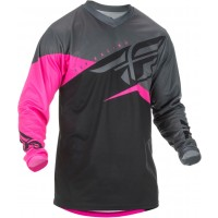 2019 Fly Racing F16 Motocross Jersey Neon Pink Black Grey