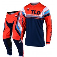 2020 Troy Lee Designs SECA TLD MX SE Motocross Gear Orange Navy