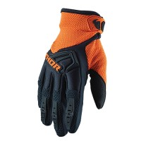 Thor Spectrum Youth Kids Motocross Gloves MIDNIGHT ORANGE