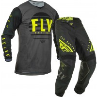 2020 Fly Racing Kinetic K220 Motocross Gear Black Grey Hi Viz