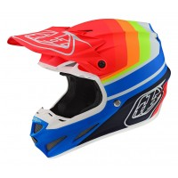 Troy Lee Designs TLD SE4 COMP MIPS MIRAGE Motocross Helmet BLUE RED