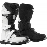 Thor Blitz XP Kids Youth Motocross Boots White Black