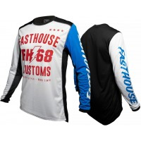 Fasthouse WORX 68 Motocross Jersey WHITE BLUE