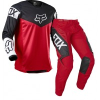 2021 Fox 180 Youth Kids Motocross Gear REVN FLAME RED