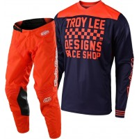 Troy Lee Designs RACESHOP TLD MX 18.1 GP Motocross Gear Navy Orange