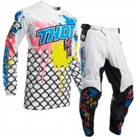 2020 Thor MX Pulse FAST BOYZ Motocross Gear White 28 ONLY