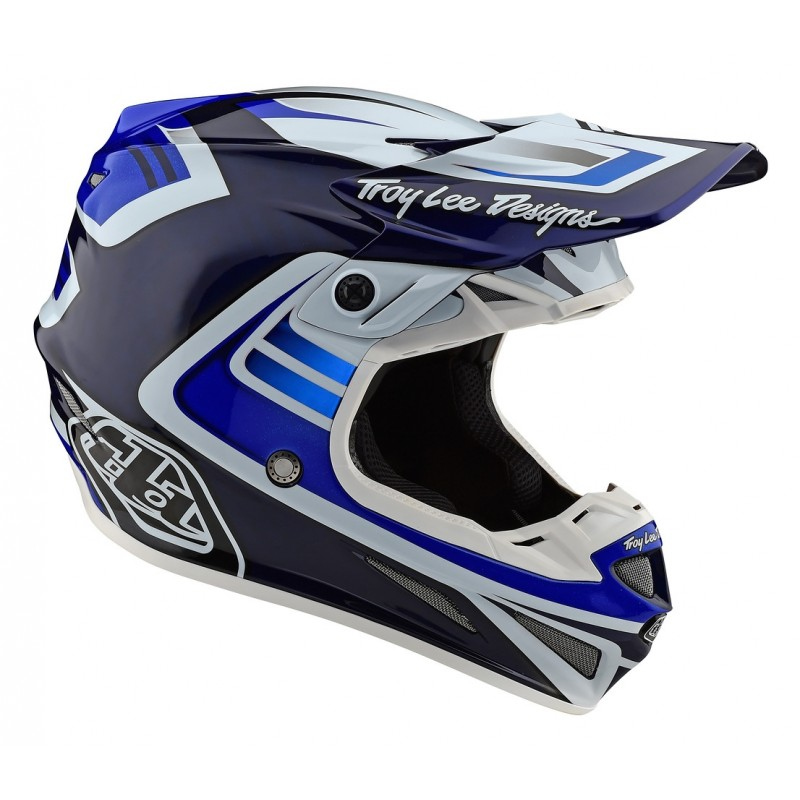 2020 Troy Lee Designs TLD SE4 CARBON FLASH Motocross Helmet BLUE WHITE