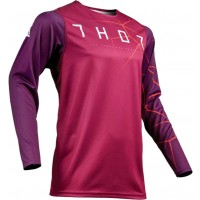 Thor MX Prime Pro Infection Motocross Jersey Maroon Red Orange