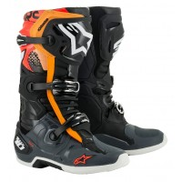 Alpinestars Tech 10 Motocross Boots Black Grey Orange Flo Red