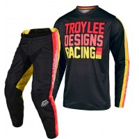 2020 Troy Lee Designs PREMIX Youth Kids TLD GP Motocross Gear Black Yellow