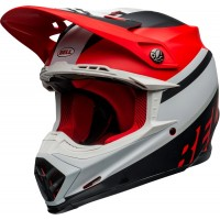 Bell Moto 9 MIPS PROPHECY Motocross Helmet Matte White Red Black