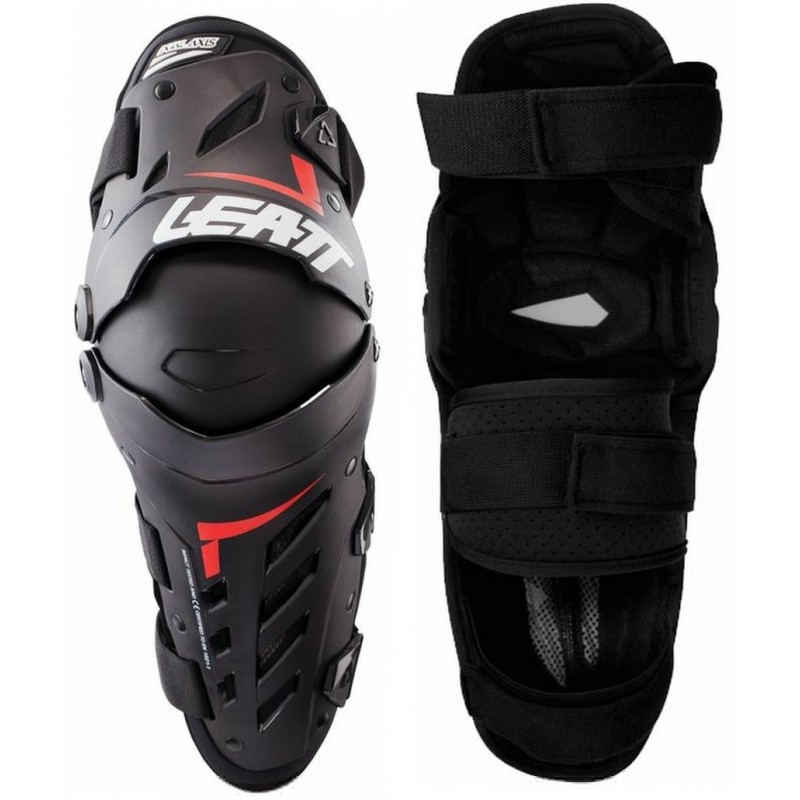 Leatt Dual Axis Knee and Leg Guards Black Red