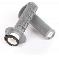 ODI Half Waffle Lock On Motocross Bike Grips Grey