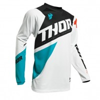 2020 Thor Sector BLADE Motocross Jersey WHITE AQUA LARGE or XL ONLY