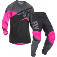 2019 Fly Racing F16 Motocross Gear Neon Pink Black Grey