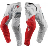 2019 Thor Sector SHEAR Motocross Pants LIGHT GREY RED