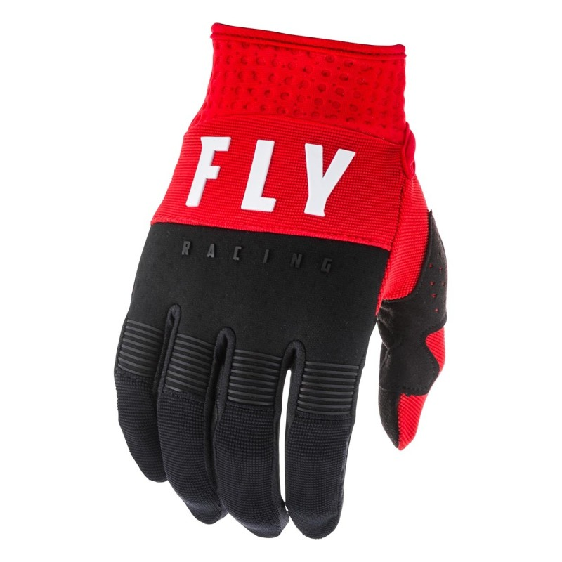 2020 Fly Racing F16 Youth Kids Motocross Gloves Red Black White