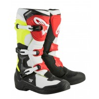 Alpinestars Tech 3 Motocross Boots Black White Flo Yellow Red