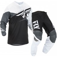 2019 Fly Racing F16 Kids Youth Motocross Gear Black White Grey