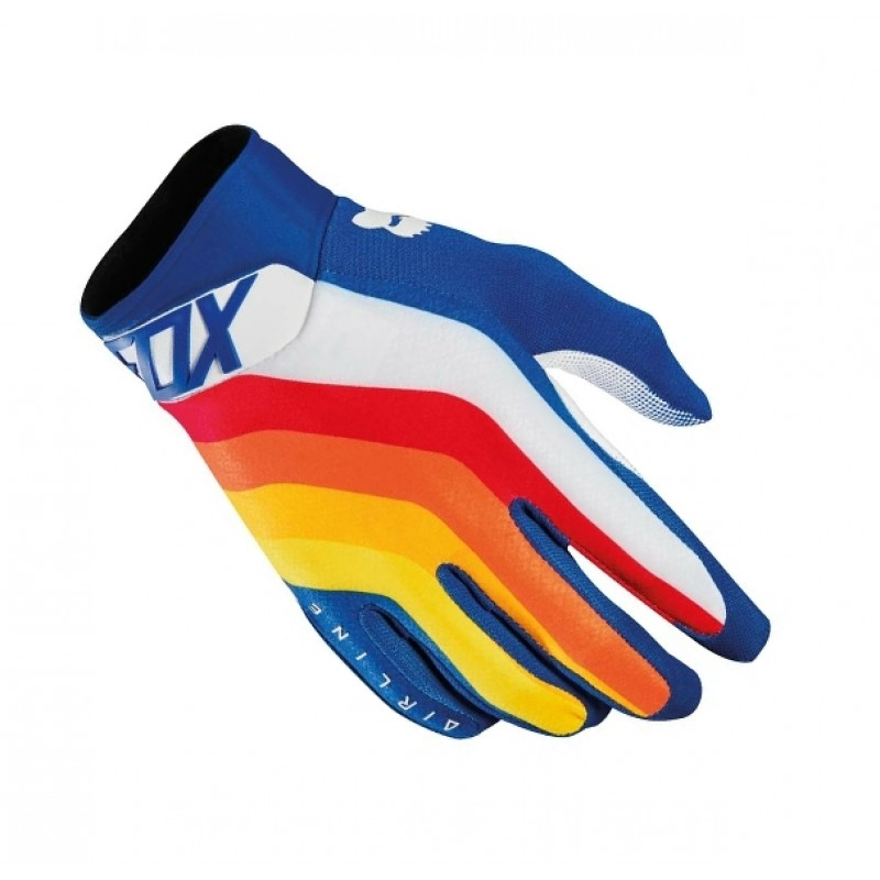 Fox DRAFTR Airline Motocross Gloves BLUE