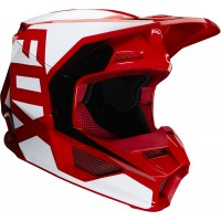 2020 Fox V1 PRIX Youth Kids Motocross Helmet FLAME RED