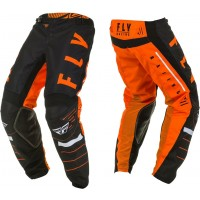 "2020 Fly Racing Kinetic K120 Youth Kids Motocross Pants Orange Black White 26"" ONLY"