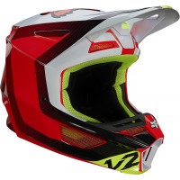 2021 Fox V2 VOKE Motocross Helmet FLO RED